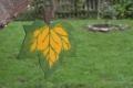 Ahornblatt groß grün, mit Aufhänger
