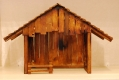 Holz-Krippenhaus dunkel mit losem Gehege