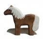 Pferd Brauner, Mähne weiß, stehend