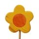 Blume gelb, rund mit Stock