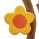 Blume gelb, rund mit Aufhänger