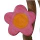 Blume rosa, rund mit Aufhänger
