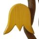 Tulpe gelb, mit Aufhänger